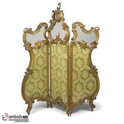 Sekat Ruang Partisi Ukiran Mewah Baroque Gold SM-124
