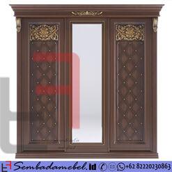 Lemari Pakaian Jati Modern Klasik 3 Pintu SM-312