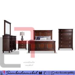 Set Kamar Tidur Jati Brown Doff SM-365