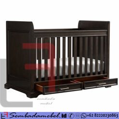 Box Bayi Jati 2 Laci melamine Brown SM-448