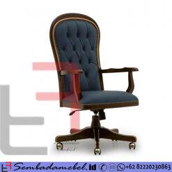 Kursi Kantor Jati Grand Father Klasik SM-459