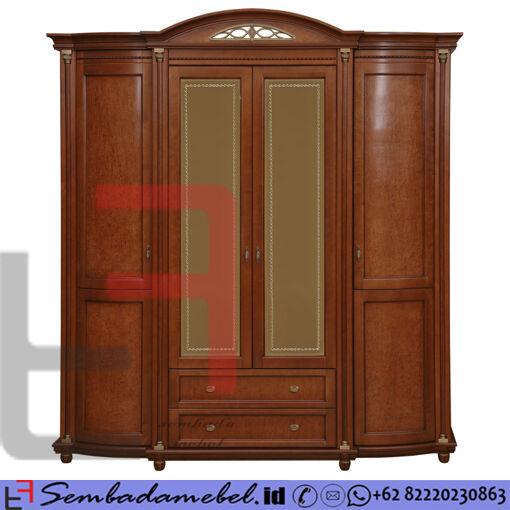 Lemari Pakaian Jati Jepara Klasik 4 Pintu SM-562