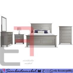 Set Kamar Tidur Modern Jepara Cat Duco King Bed SM-567